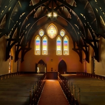 student photograph of a chapel interior