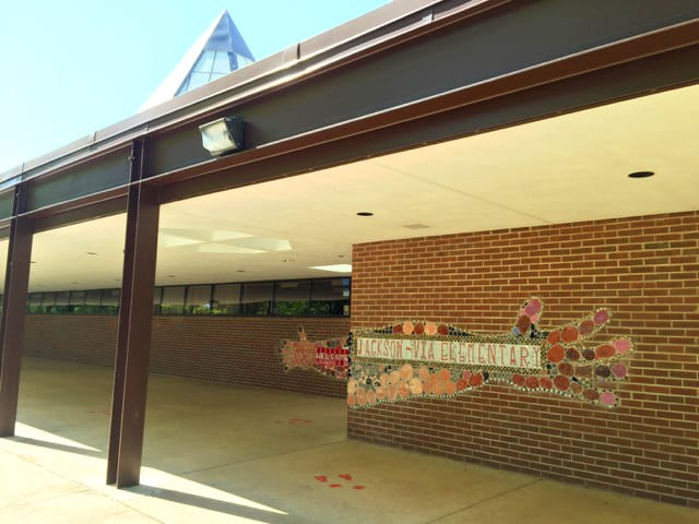 Front of Jackson-Via Elementary School