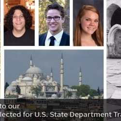 Collage: CHS Students selected for US State Department Travel Fellowships
