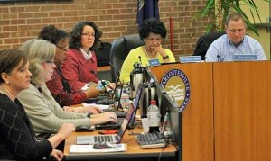 Staff and Board at a recent meeting; courtesy Aaron Richardson/Charlottesville Tomorrow
