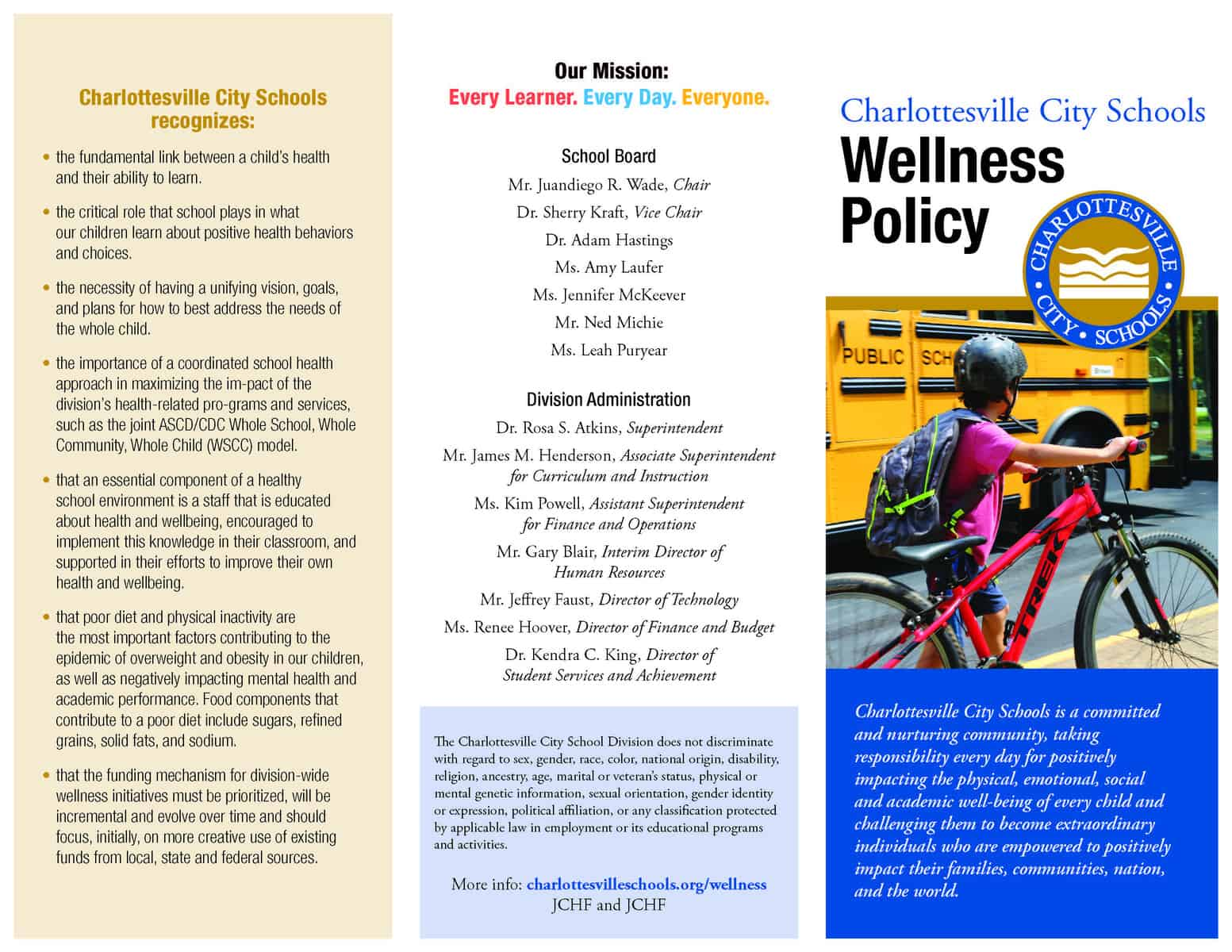Us Departments Of Education And Health >> Wellness Charlottesville City Schools