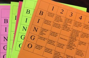 Bingo cards for Walker's Mix-it-Up Lunch