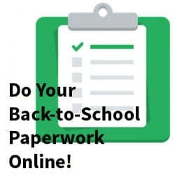 Back-to-School Paperwork Online! clipart