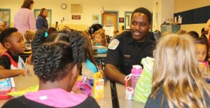 """Lunch with a Cop"" at Burnley-Moran"
