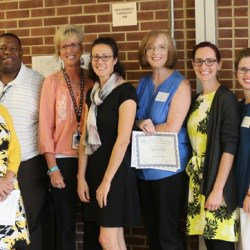 Teachers and principals at the Shannon Grant Award Ceremony