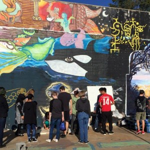 Art field trip to Ix Park with artist Chicho