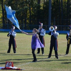 CHS Marking Knights performing at Caroline Invitation, earning 2nd overall and 1st for color guard