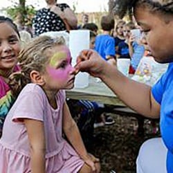 Face-painting at Buford Harvest Festival