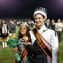 Naia Fairchild and Francis MacCall, homecoming queen and king. Photo courtesy ScimmagePlay.
