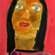 potrait by Burnley Moran 2nd grader Emma