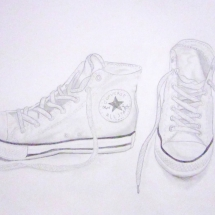 drawing of sneakers by Buford 7th grader Abigail Brisset
