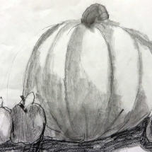 pumpkin and apples sketch