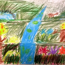 colored drawing by Venable Elementary School 2nd grade student