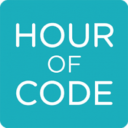 "Logo for ""Hour of Code"""