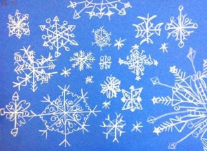 student art of snowflakes