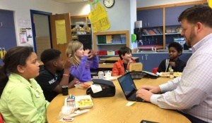 Johnson 4th-graders participate in a strategic plan focus group.