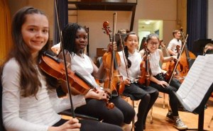 Students in Walker orchestra