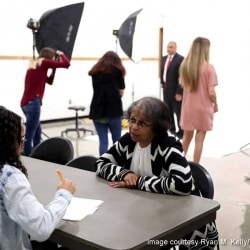 CHS students interviewing and photographing local African-Americans. Photo by Ryan M. Kelly/Daily Progress