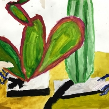 Painting by a Burnley Moran 4th grade art student