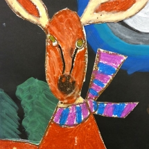 Art by Greenbrier Elementary School art student Sasha, 2nd grade