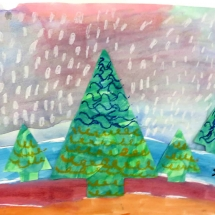 Art by Greenbrier Elementary School art student Hamed, 2nd grade