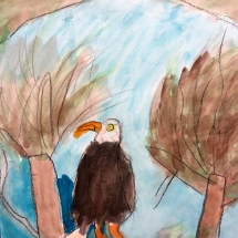Art by Greenbrier Elementary School art student Janice, 2nd grade