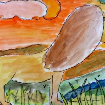 Art by Greenbrier Elementary School 3rd grade art student Pedro