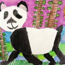 Art by Greenbrier Elementary School 3rd grade art student , Sam