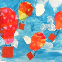 Art by Greenbrier Elementary School Kindergarten art student, Nate