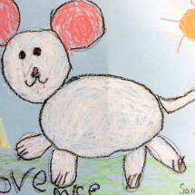 Art by Greenbrier Elementary School Kindergarten art student Samantha