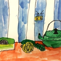 Art by Jackson Via Elementary School 2nd grade art student, Esme
