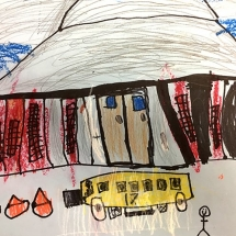 Art project by Johnson Elementary Kindergarten student, Lief