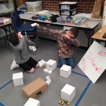 MoreWalker students recreated the setting of Among the Hidden.