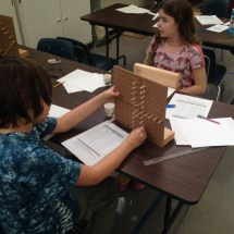 Walker 6th Grade math students complete a STEM exercise
