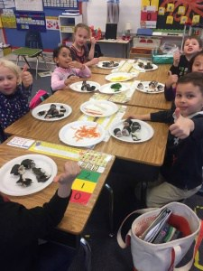 Johnson kindergarten students make and eat yummy sushi!