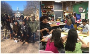CHS AVID Students Visit Colleges and Mentor CCS Local Elementary School Students