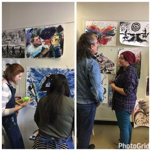 Cuban sculptor & painter José Bedia visits CHS AP Art students