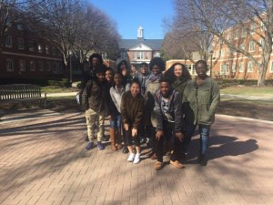 photo of CHS AVID students during a visit to an area college campus