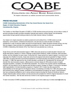 Press Release from COABE. Call 245-2962 for information