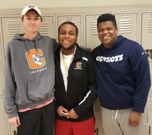 Friends and heros: AJ Stouffer, Jerry Harris, Trevon Jackson