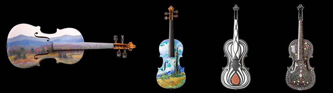 violin-collage
