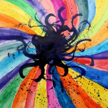 colorful painting by Greenbrier 4th grader Mia