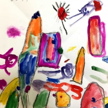 painting by Johnson 1st grader