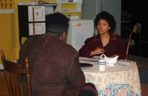 Torain Braxton (R) and Trevon Jackson in A Raisin in the Sun