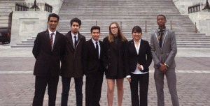 CHS students on a trip to DC to speak with representatives