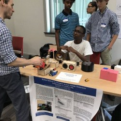 Buford students sharing their projects at the Making and Education Fair at American University.