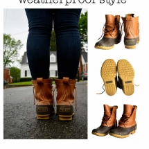student advertisement project w/ L.L. Bean duck boots