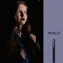 student advertisement project w/ makeup from Kat Von D.