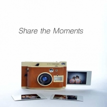 student advertisement project w/ an instant camera (polaroid-like)