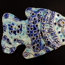 ceramic fish sculpture